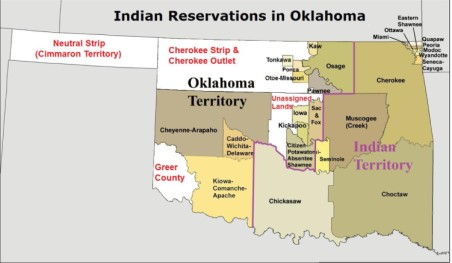 Historical Oklahoma Indian Reservations